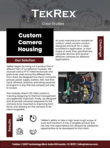Custom Camera Housing